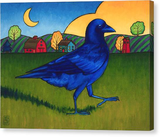 Crows Run Canvas Print by Stacey Neumiller