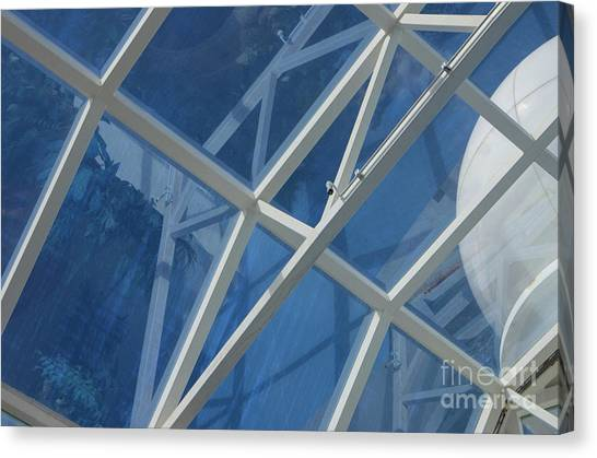 Cruise Ship Abstract Girders And Dome 2 Canvas Print
