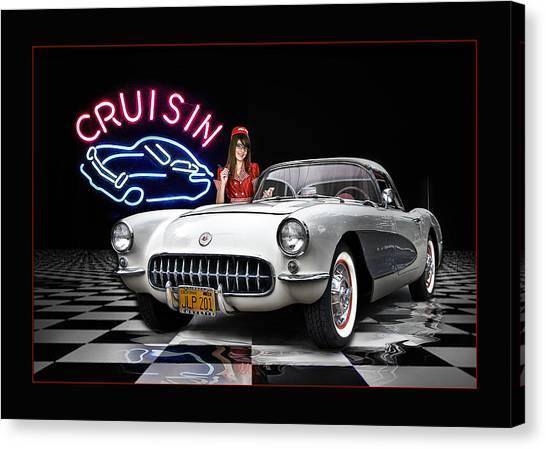 Cruisin' The Diner .... Canvas Print by Rat Rod Studios