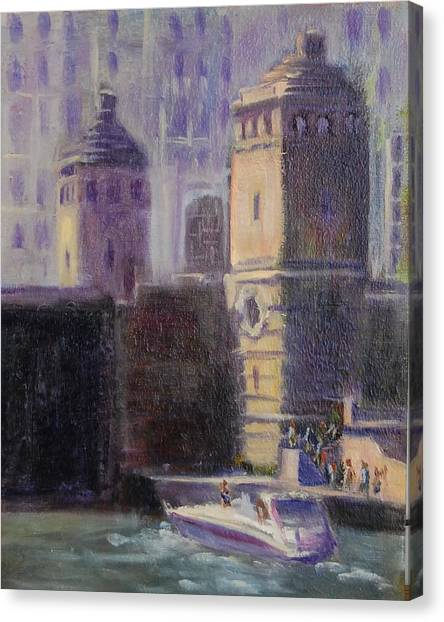 Cruising Chicago Canvas Print