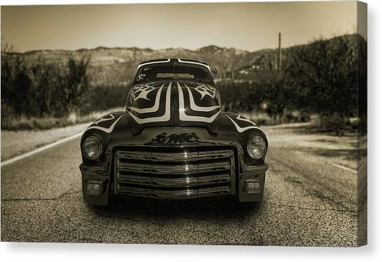 Cruising In The Southwest Canvas Print by Joseph Sassone
