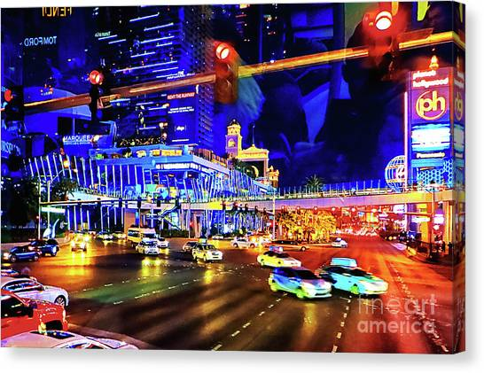 Cruising On The Strip Canvas Print