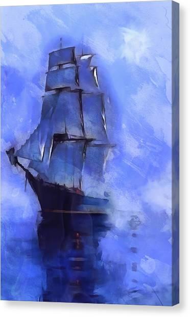 Cruising The Open Seas Canvas Print