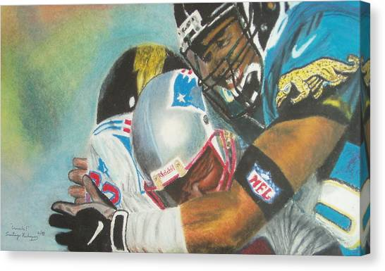 Jacksonville Jaguars Canvas Print - Crunch by Santiago Rodriguez