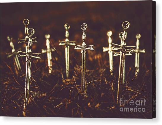 Medieval Art Canvas Print - Crusaders Cemetery by Jorgo Photography - Wall Art Gallery