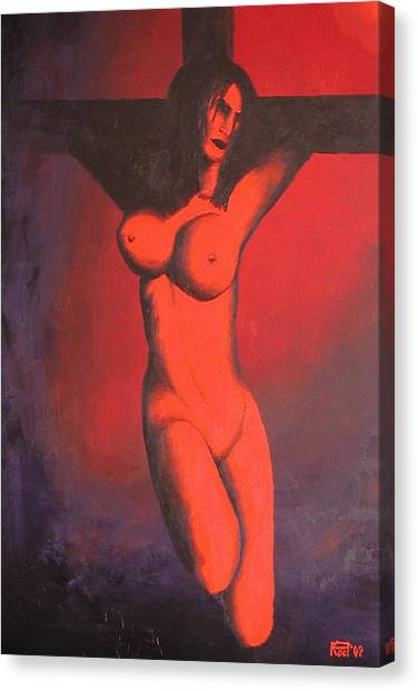 Crux Canvas Print by Poul Costinsky