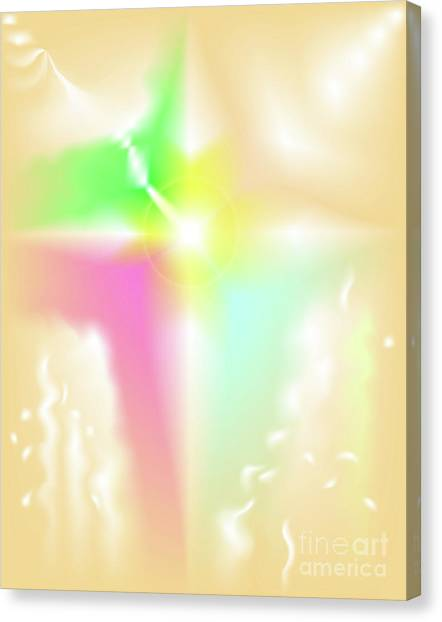 Canvas Print featuring the digital art Crux - Abstract Art Print On Canvas - Digital Art - Fine Art Print - Decorative Wa by Ron Labryzz