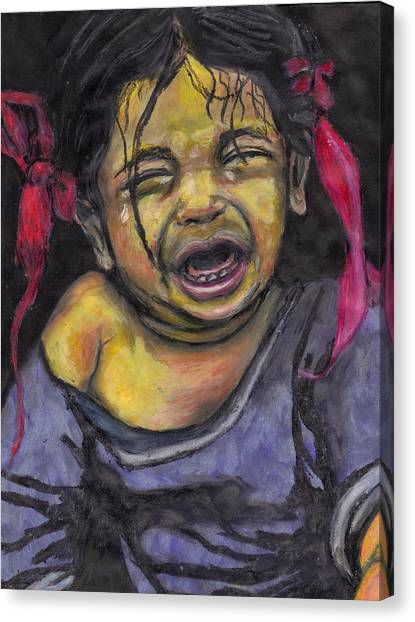 Cry Baby Cry Canvas Print