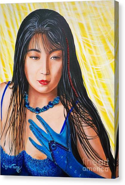 Crystal Blue China Girl            From   The Attitude Girls  Canvas Print
