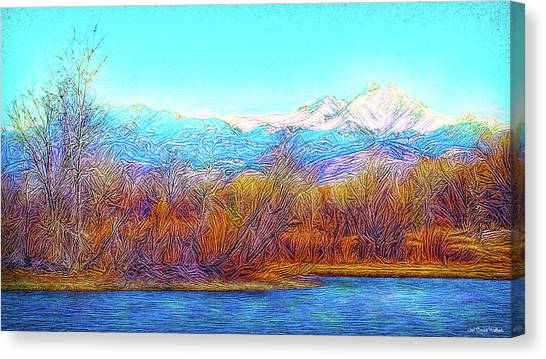 Crystal Blue Winter Day Canvas Print