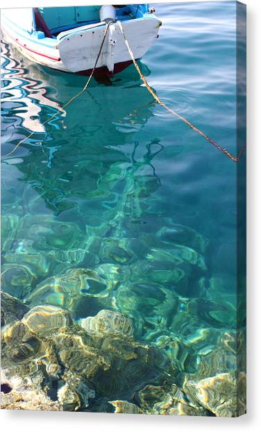 Crystal Clear Canvas Print by Yvonne Ayoub