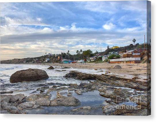 Crystal Cove Beach Cottages Canvas Print