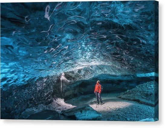Vatnajokull Glacier Canvas Print - Crystal Heart by Iurie Belegurschi