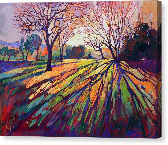 Wine Country Canvas Print - Crystal Light by Erin Hanson