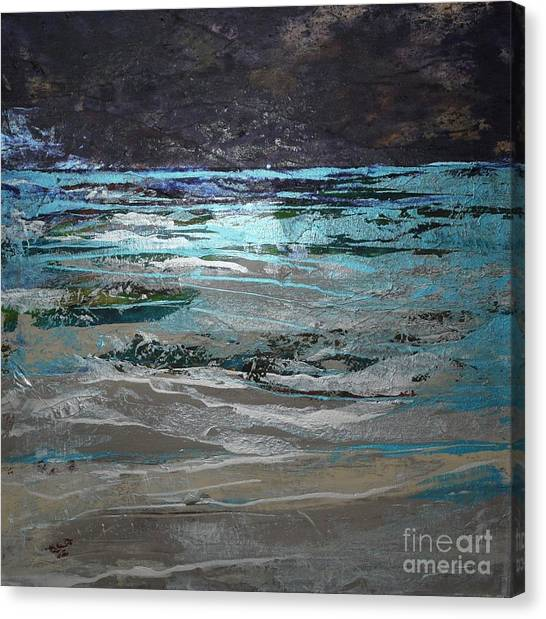 Crystal Sea Canvas Print by Donna McLarty