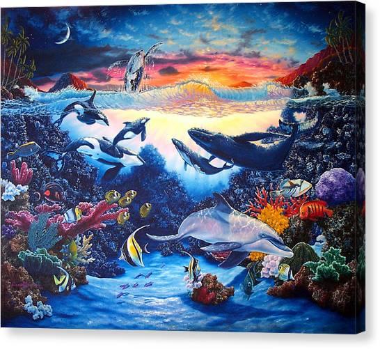 Crystal Shore Canvas Print by Daniel Bergren