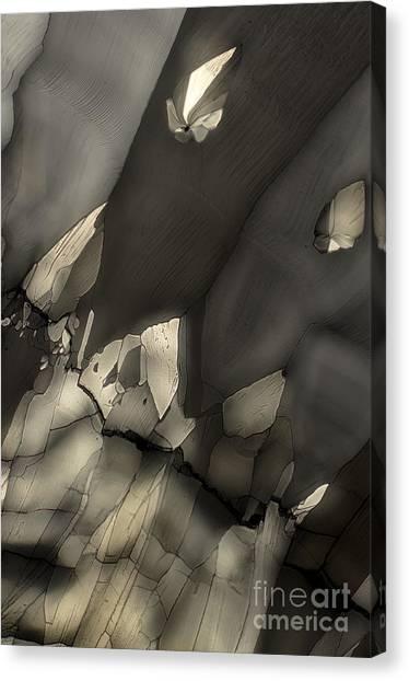 Falling Crystals Canvas Print