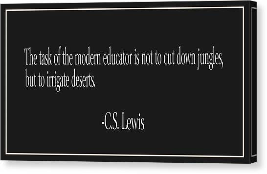 Junior College Canvas Print - C.s. Lewis Education Quote by Trudy Clementine