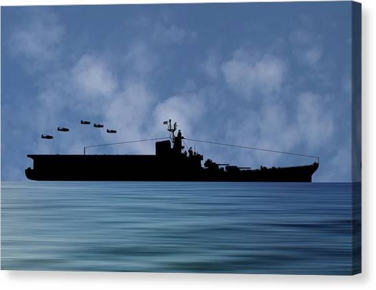 Aircraft Carrier Canvas Print - Css Kentucky V1 by Smart Aviation