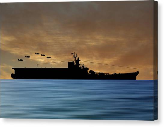 Aircraft Carrier Canvas Print - Css Kentucky V2 by Smart Aviation