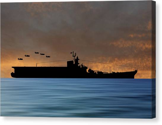 Aircraft Carrier Canvas Print - Css Kentucky V3 by Smart Aviation