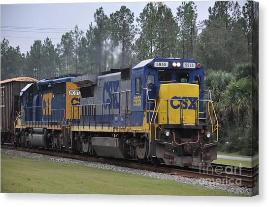 Csx 5955 Through Folkston Georgia Canvas Print