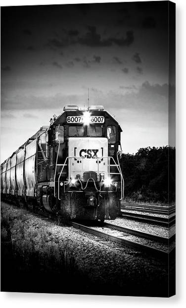 Freight Trains Canvas Print - Csx 6007 by Marvin Spates