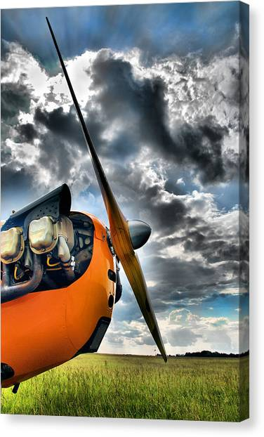 Prop Planes Canvas Print - Cub Prop by Steven Richardson