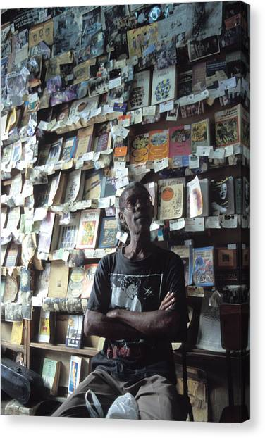 Cuba Book Store Canvas Print