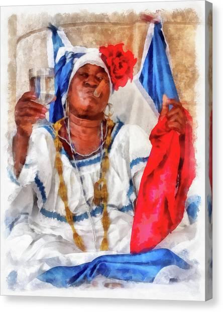 Cuban Character Canvas Print