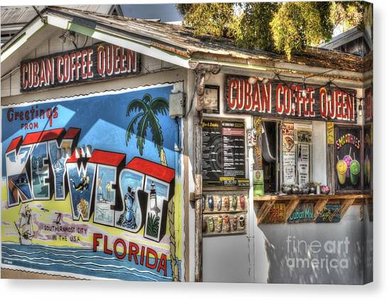 Bistros Canvas Print - Cuban Coffee Queen by Juli Scalzi