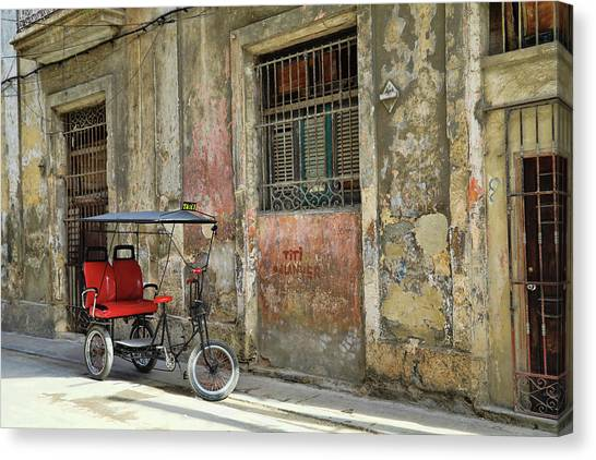 Cuban Uber Canvas Print
