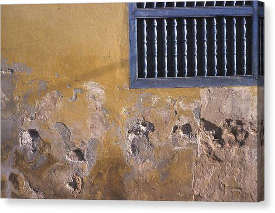 Cuban Wall And Window Canvas Print