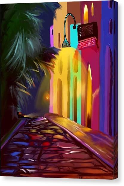 Cubano Street Canvas Print