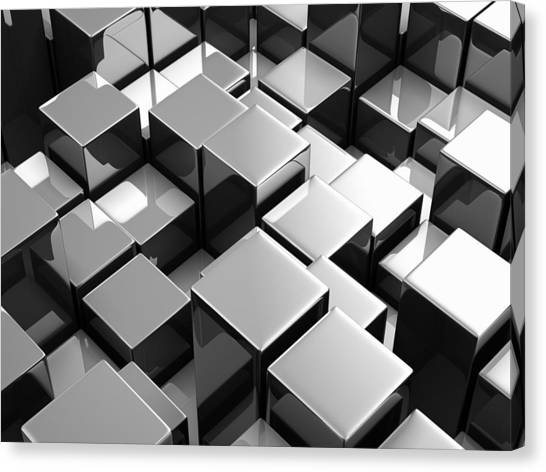 Keyboards Canvas Print - Cube by Maye Loeser