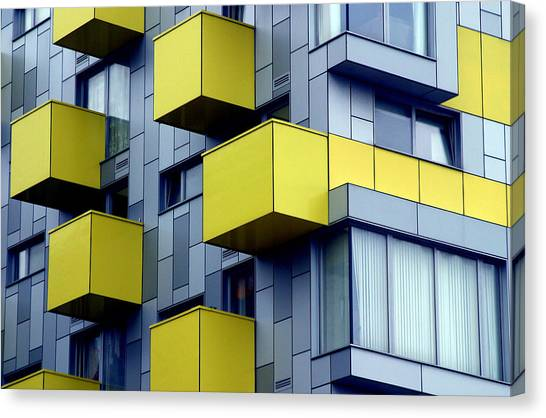 Cubed Yellow Canvas Print by Jez C Self