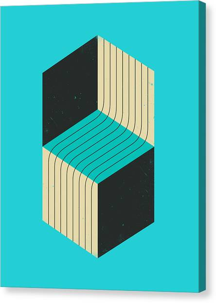 Minimalism Canvas Print - Cubes 7 by Jazzberry Blue