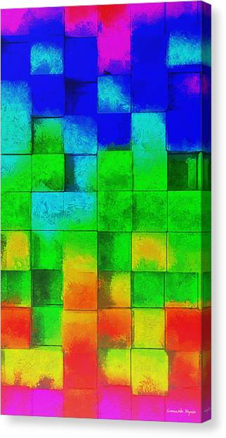 Purple Canvas Print - Cubism 2 - Pa by Leonardo Digenio