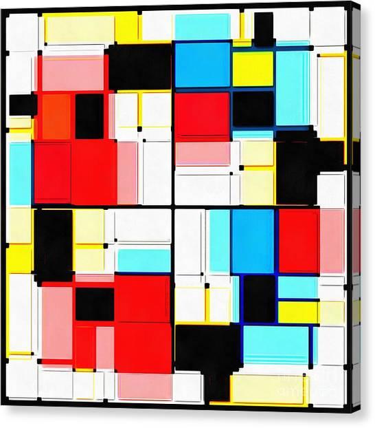 Tetris Canvas Print - Gems by Edward Fielding
