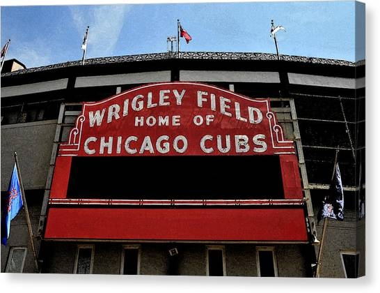 Wrigley Field Canvas Print - Cub's House by Lyle  Huisken