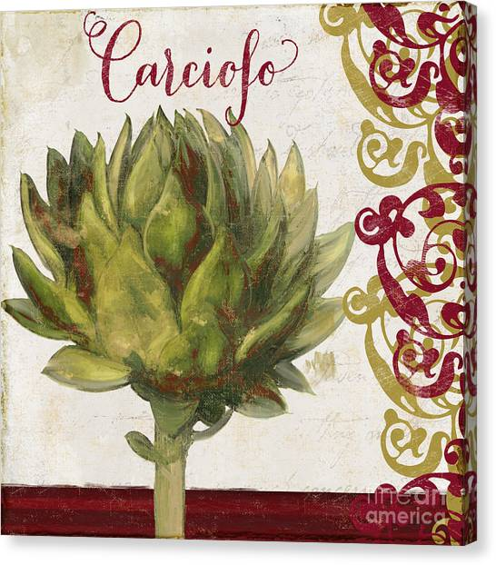 Onion Canvas Print - Cucina Italiana Artichoke by Mindy Sommers