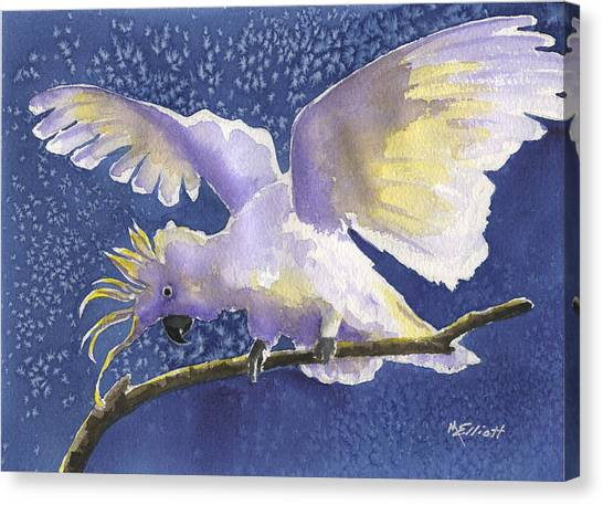 Cockatoo Canvas Print - Cuckoo Cockatoo by Marsha Elliott