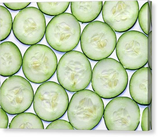 Cucumber Clices Canvas Print