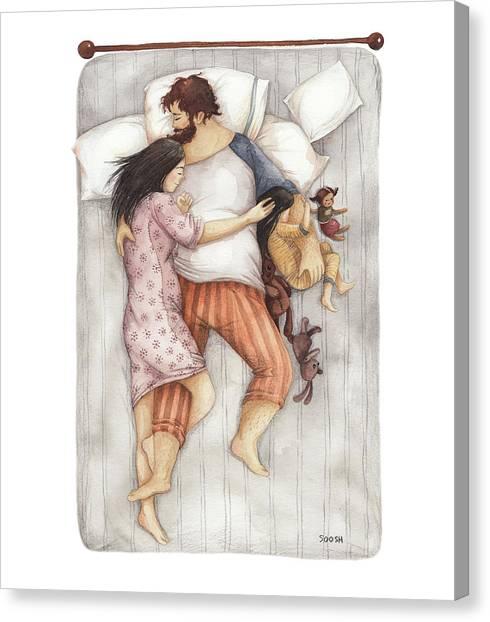 Sleep Canvas Print - Cuddles by Soosh