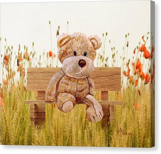Cuddly In The Garden Canvas Print