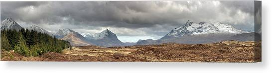 Cuillin Panorama Canvas Print by Grant Glendinning