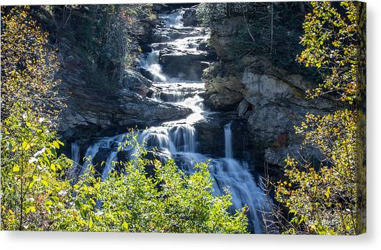 Cullasaja Falls Canvas Print - Cullasaja Falls by Walt  Baker