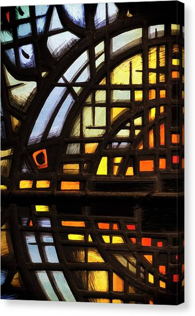 Canvas Print featuring the photograph Culross Abbey - Stained Glass by Jeremy Lavender Photography
