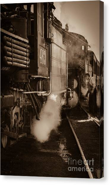 Cumbres And Toltec Steam Train  Canvas Print by Scott and Amanda Anderson