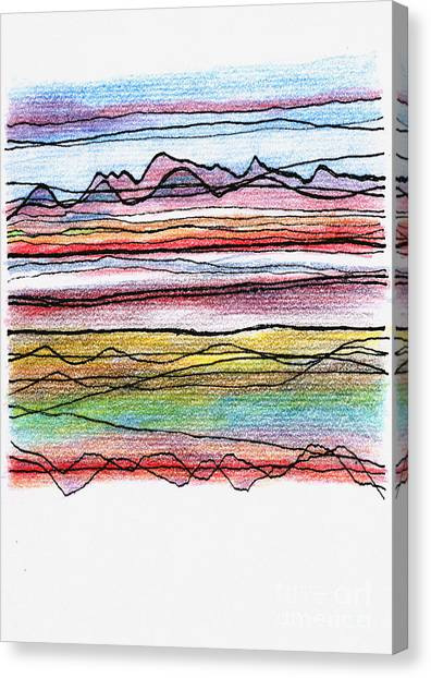 Cumbria Lines  Canvas Print by Andy  Mercer